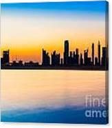Dubai Skyline At Dusk Canvas Print