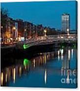 Dublin At Night Canvas Print