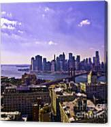 Dumbo View Of Lower Manhattan Canvas Print