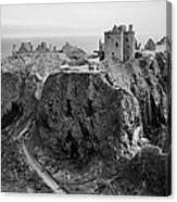Dunnottar Castle Monochrome Canvas Print