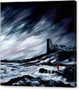 Dunure Red Coat Canvas Print