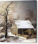 Durrie's Winter In The Country Canvas Print