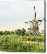 Dutch Landscape With Windmills Canvas Print