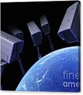 Earth Under Surveillance Canvas Print