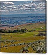 East End Of Emmett Valley Canvas Print