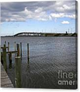 Eau Gallie Causeway Over The Indian River Lagoon At Melbourne Fl Canvas Print