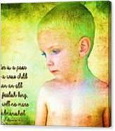 Ecclesiastes 4 13 Canvas Print