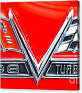 396 Turbo Jet Emblem Canvas Print