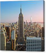 Empire State Building At Sunset Canvas Print