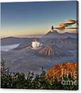 eruption at Gunung Bromo Canvas Print