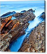 Eternal Tides - The Strange Jagged Rocks And Cliffs Of Montana De Oro State Park In California Canvas Print