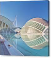 Europe, Spain, Valencia, City Of Arts Canvas Print