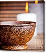 Exotic Bowl And Candles Canvas Print