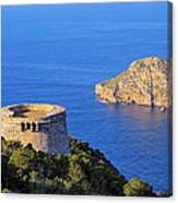 Famous Tower Of Savinar On Ibiza Island Canvas Print