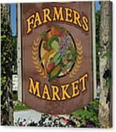 Farmers Market Canvas Print