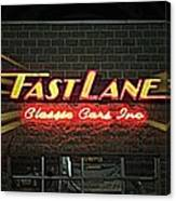 Fast Lane In Lights Canvas Print