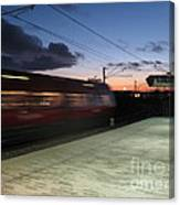 Fast Train Canvas Print