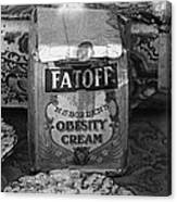 Fatoff Obesity Cream Bottled Electricity Store Window Ghost Town Virginia City Montana 1971 Canvas Print