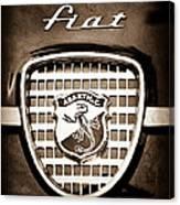 Fiat Abarth Emblem Canvas Print