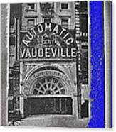 Film Homage Automatic 1 Cent Vaudeville Peep Show Arcade C.1890's New York City Collage 2013 Canvas Print