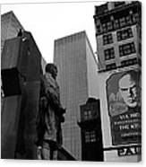 Film Homage The Fighting 69th 1940 Fr. Duffy Statue Yul Brynner Palace Theater New York 1977 Canvas Print