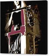 Film Noir Dance Hall Girl Looks Down On Robert Mitchum The King Of Noir Filming Old Tucson Az 1968 Canvas Print