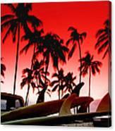 Fins N' Palms Canvas Print
