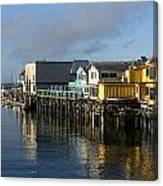 Fishermans Wharf In Monterey Bay Canvas Print