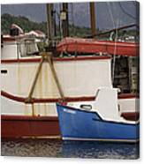 2 Fishing Boats At The Dock Canvas Print