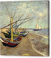 Fishing Boats On The Beach Canvas Print