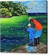 Fishing Buddies Canvas Print