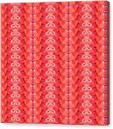 Flower Petal Petal Art From Cherryhill Nj America Micro Patterns Red Color Tones Light Shades Canvas Print