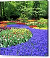 Flowers At A Garden Canvas Print