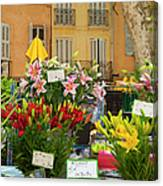 Flowers At Market Canvas Print