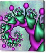 Fractal Neon Catwalk Canvas Print