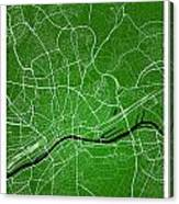 Frankfurt Street Map - Frankfurt Germany Road Map Art On Colored Canvas Print