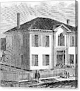 Freedmen School, 1867 Canvas Print