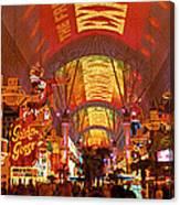 Fremont Street Experience Las Vegas Nv Canvas Print