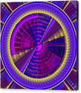 Futuristic Tech Disc Fractal Flame Canvas Print