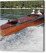 Gar Wood Runabout Canvas Print