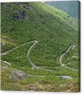Gaularfjell Panorama Canvas Print