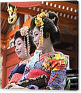 Geishas Senso Ji Canvas Print