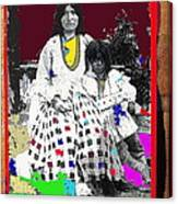 Geronimo's Wife Ta-ayz-slath And Child Unknown Date Collage 2012 Canvas Print