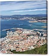Gibraltar City And Bay Canvas Print