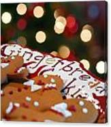 Gingerbread Cookies On Platter Canvas Print
