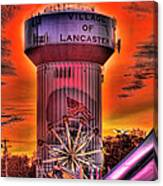 Glowing Water Tower Canvas Print