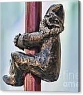 Gnome Statue Wroclaw Poland Canvas Print