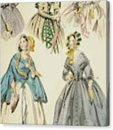Godey's Lady's Book, 1842 Canvas Print