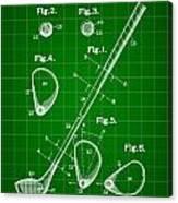 Golf Club Patent 1909 - Green Canvas Print