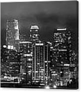Gotham City - Los Angeles Skyline Downtown At Night Canvas Print